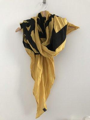 Nümph Jedwabny szal żółty-czarny