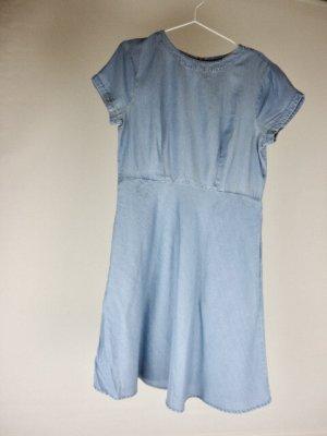 French Connection Jeansowa sukienka błękitny Bawełna