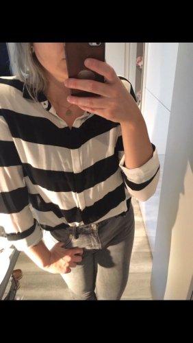 H&M Shirt Blouse black-white