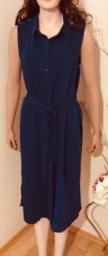 Adrienne Vittadini Robe chemise bleu foncé polyester