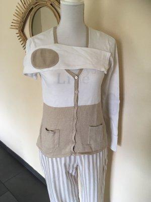 Ashley Brooke Cardigan blanc cassé-beige coton