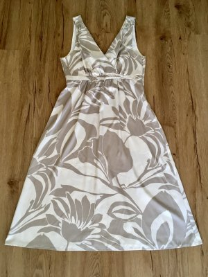 Empire Dress natural white-grey brown