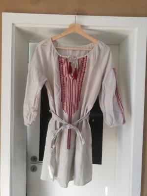 Leichtes Kleid aus Baumwolle und Leinen von Natura
