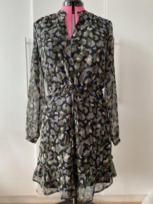 Jean Pascale Szyfonowa sukienka Wielokolorowy