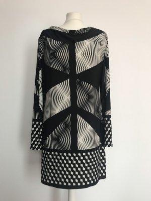 Ana Alcazar Vestido de manga larga negro-blanco puro