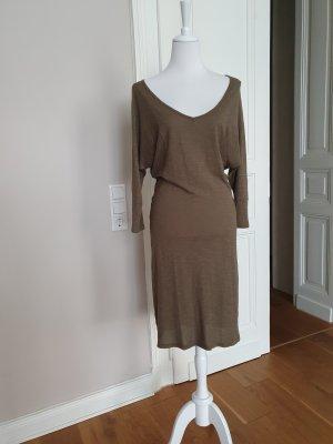 iheart Vestido de manga larga verde oliva