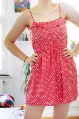 leichtes lachsfarbendes Sommerkleid - Bershka