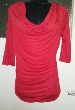 H&M Maglia con scollo a cappuccio rosso-rosso mattone