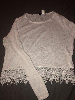 H&M Divided Gehaakt shirt wit
