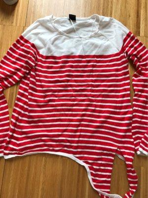 s.Oliver Black Label Camicia maglia bianco-rosso