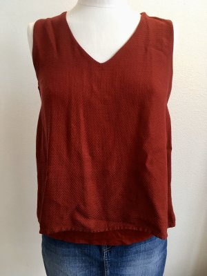 Massimo Dutti Backless Top carmine-dark red