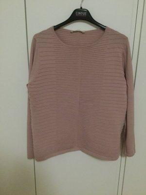 Leichtes Pullover mit rundem Ausschnitt in der Rippoptik Altrosa Betty Barclays Elegant Casual Business