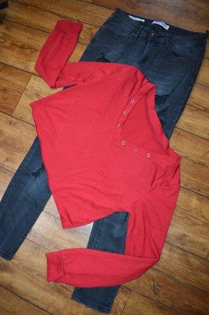 Leichtes rotes Langarm Shirt gr. 38