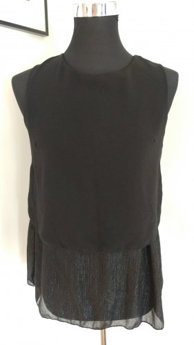 blue sand Blouse Top black-silver-colored
