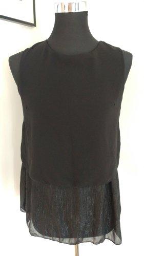 leichtes schickes schwarzes Top/ Bluse