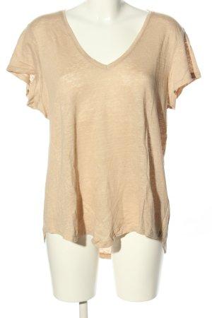 leichtes Shirt aus 100% Leinen von H&M, ungetragen, sandbraun, creme, Gr. L (40/42), Leinenshirt