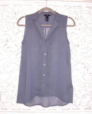 leichtes Sommer Top Bluse von H&M * graublau *  transparent * Gr. S 36