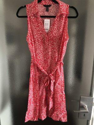 New Look Vestido de Verano rojo-blanco