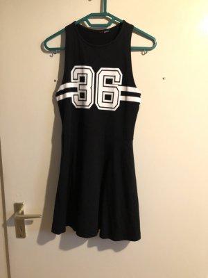 Fashion New York Sukienka militarna czarny-biały