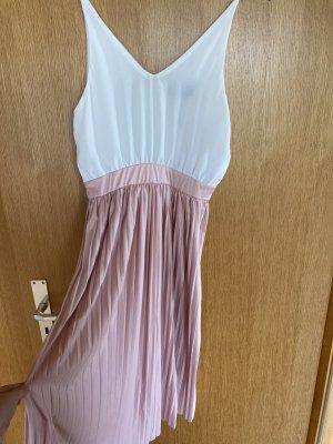 AX Paris Vestido de Verano blanco-rosa Poliéster