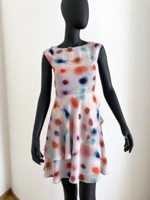 Reiss Flounce Dress multicolored