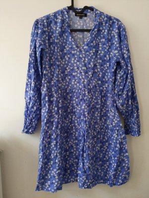 leichtes Sommerkleid • XS • blau • Blümchen