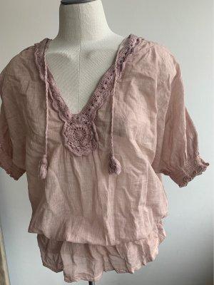 Camicia a tunica rosa antico