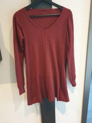 aus Italien Knitted Dress dark red