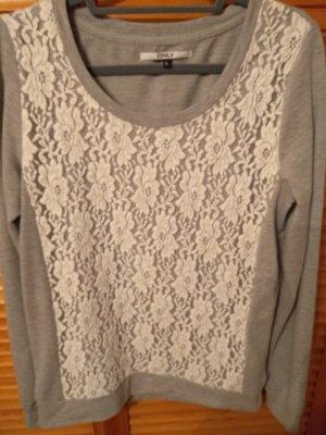 leichtes Sweatshirt mit Spitze