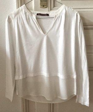 Leichtes T Shirt aus 2 Materialien