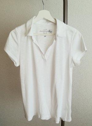 Leichtes T-Shirt mit Polokragen