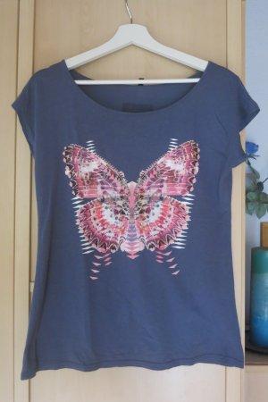 leichtes T-Shirt mit Schmetterlingsdruck