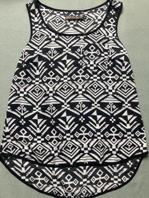 Muscle Shirt white-black