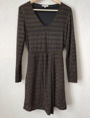 Leichtes Transparentes schwarz-bronzefarbenes Kleid mit Unterkleid von COWE