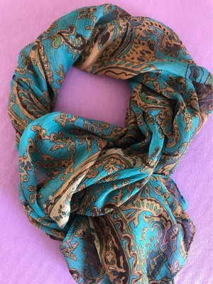 0039 Italy Neckerchief petrol-brown