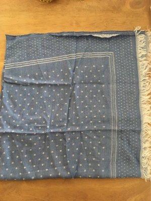 Leichtes Tuch 90x90 jeansblau