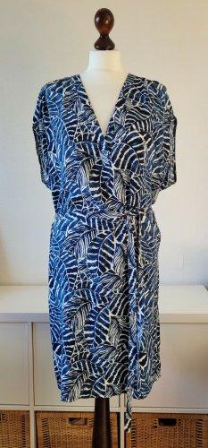 H&M Tunic Dress blue-white viscose
