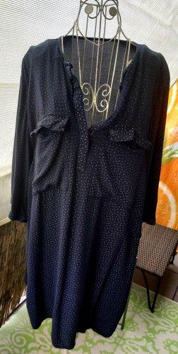 Woman Collection H&M Vestido tipo túnica blanco-azul oscuro