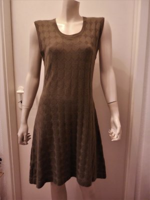 Allude Knitted Dress olive green cotton