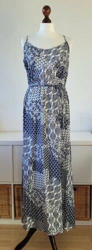 s.Oliver Maxi Dress blue-white viscose