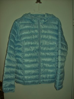 QS by s.Oliver Quilted Jacket light blue polyester