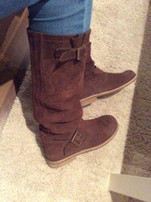 Görtz 17 Wide Calf Boots cognac-coloured-brown