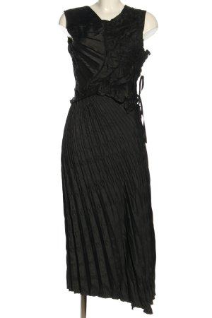 Leiko Podwójny zestaw ze splotu siatka czarny Wzór w paski W stylu casual