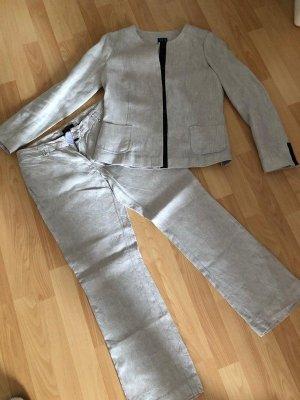 Leinen Anzug / Hose + Jacke von Un Deux Trios, Gr. 36