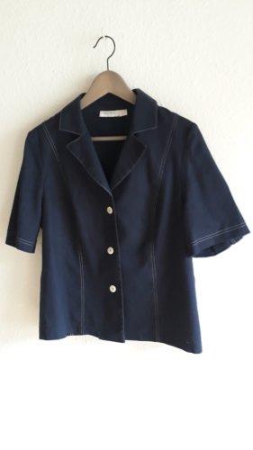 Peter Hahn Chaqueta tipo blusa azul tejido mezclado