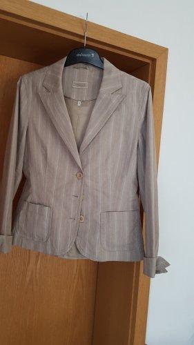 Kenny S. Blazer en tweed beige clair