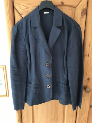 and Blazer corto blu scuro Lino