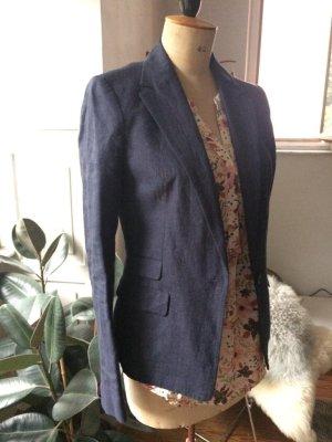 Leinen-Blazer von Zara, dunkles blau, edel, 1 x getragen