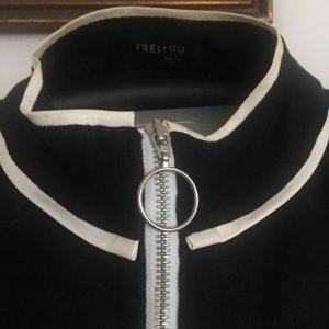 Freitag Blusón negro-blanco