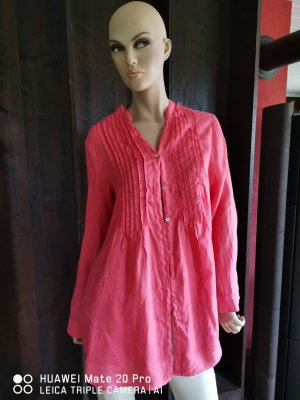120% Lino Long Sleeve Blouse red linen